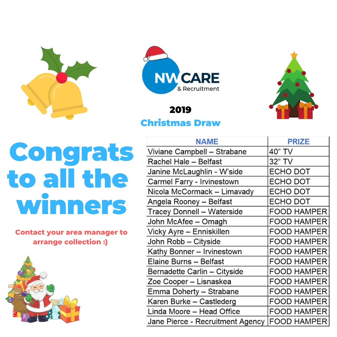 NW Care 2019 Staff Christmas draw