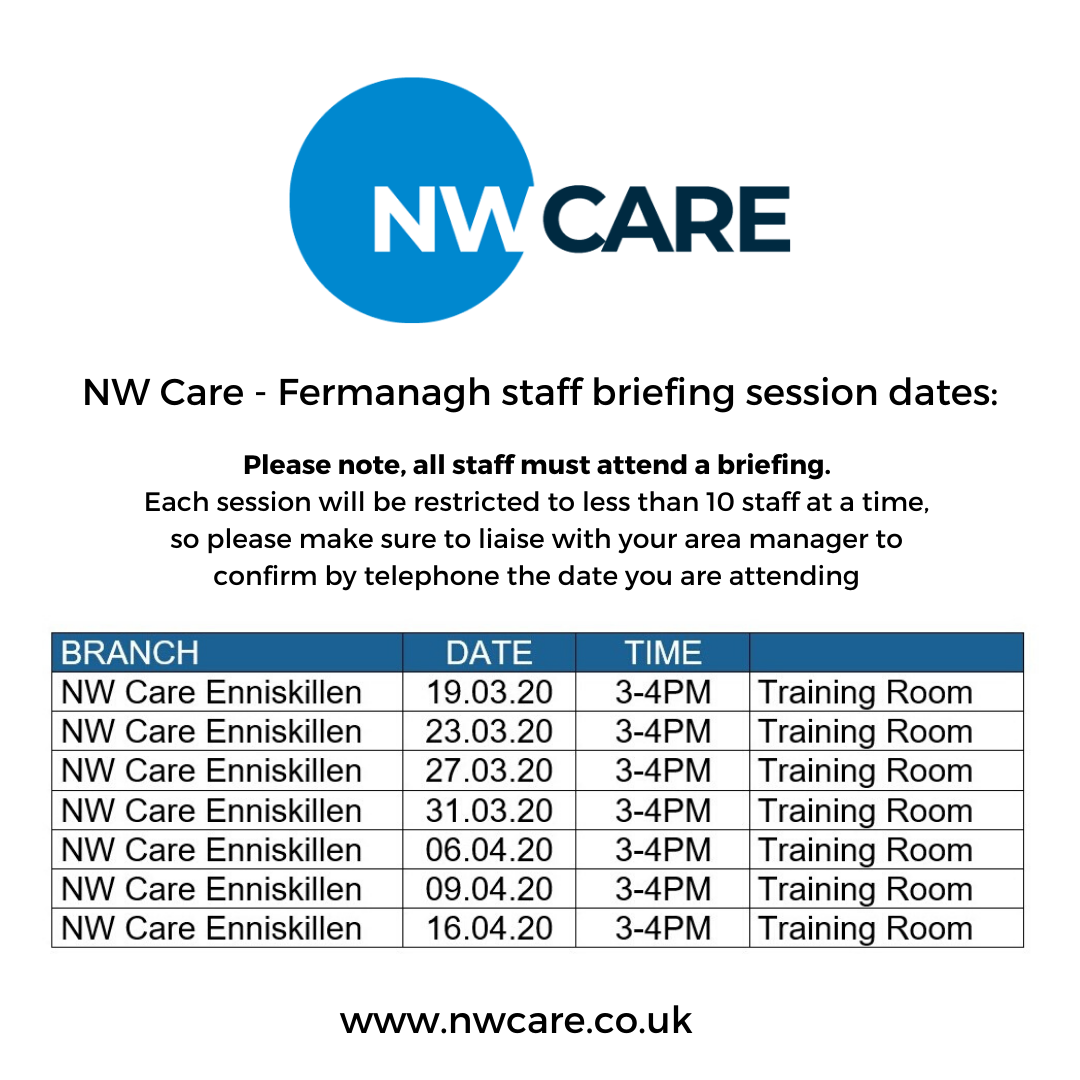 NW Care Staff Briefings - Fermanagh