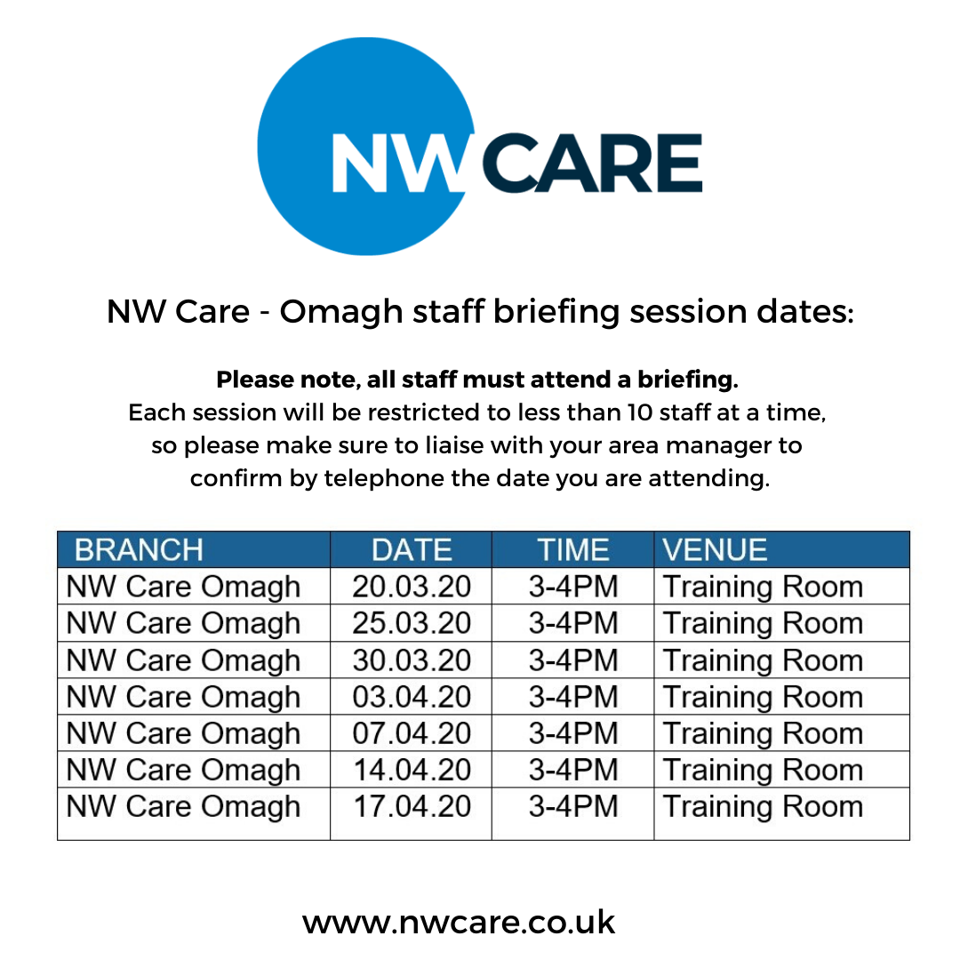 NW Care Staff Briefings - Omagh